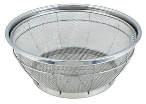 Stainless Steel Colander Re-enforced Hard Mesh Strainer Basket Sieve 32 & 35cm