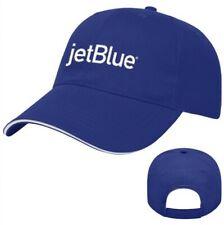 JetBlue Airways Blue White Embroidered Logo Adjustable Baseball Golf Cap Hat New