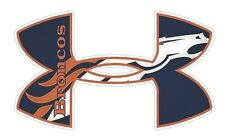 Under Armour Denver Broncos  Football Truck/Window Decal Sticker-Set of 3