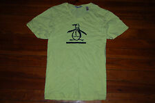 NEW Men's Penguin Fitted V-Neck Yellow Graphic T-Shirt (X-Large)