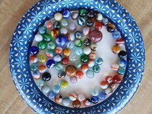 Akro Agate Marble Lot, Corkscrew, Swirl, etc.