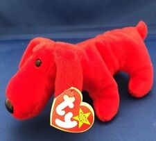Ty Beanie Baby - ROVER the Red Dog - mint tags & tag protector - tag errors RARE