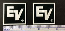 EV Electro-Voice ElectroVoice Speaker Badge Logo Emblem Square