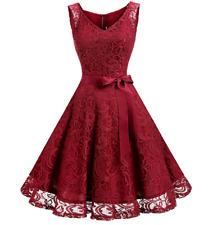 Women's Short Prom Dress Gown V Neck Floral Lace Bridesmaid Dress Party Dress