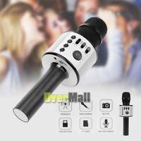 Q37 Wireless Karaoke Handheld Microphone USB KTV Player Bluetooth Mic Speaker BK