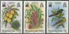 Timbres Oiseaux Flore Montserrat 562/4 ** lot 27366