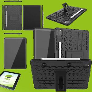 Für Apple iPad Pro 11.0 2021 Hybrid Etuis Schwarz Hülle Tablet Tasche + H9 Glas