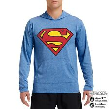 Officially Licensed Superman Shield Performance Hoodie S-XXL Sizes
