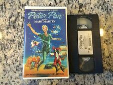 PETER PAN 30TH ANNIVERSARY EDITION RARE VHS! HTF ON DVD! 1960 MARY MARTIN LIVE!