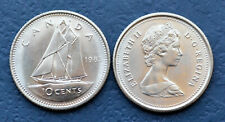 1983 CANADA Hard to Find 10 Cents Dime - UNC