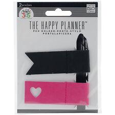 """""""Create 365 Happy Planner Pen Holder 2/Pkg-Pink & Black, Set Of 2"""""""