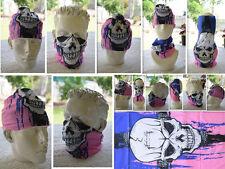 Head/Face/Mask/Neck Multi-wear tube Bandana/Durag.SPF5, Scarf/Wrap.Headwarp 061