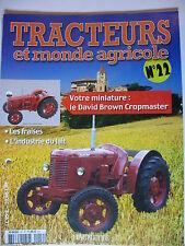 FASCICULE 22 TRACTEURS ET MONDE AGRICOLE DAVID BROWN CROPMASTER WAGONS CR