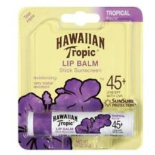 HAWAIIAN TROPIC LIP BALM STICK SUNSCREEN SPF 45 NEW & SEALED WATER RESISTANT