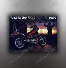 VINTAGE HONDA 1985 SHADOW 500 MOTORCYCLE BANNER