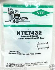 NTE NTE7432 IC Integrated Circuit TTL-Quad 2 Input POS or Gate ECG7432