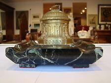 Signé Rambaud , fondeur Susse frères , encrier en bronze , socle marbre