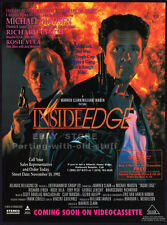 INSIDE EDGE__Original 1992 Trade AD movie promo__MICHAEL MADSEN__RICHARD LYNCH