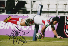St. Helens R.L.C Hand Signed Francis Meli Photo 12x8 2013 Rugby League 1.