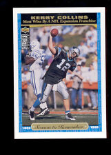 1996 UD KERRY COLLINS Carolina Panthers Season to Remember Jumbo Card