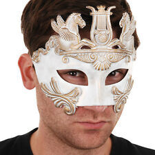 Masquerade Mask mens Cavalli Centurion white and gold eye mask
