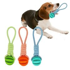 Pet Braid Rope Dog Toys Chew Teeth Clean Outdoor Training Fun Playing Ball