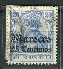 GERMAN COLONIES; MAROKKO early 1905 Wmk. issue used 20c. value