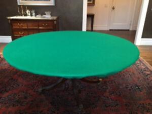 "Original Poker Felt Casino Style Round Table cover for 60"" table - elastic FS"