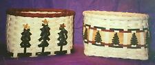 Basket Weaving Pattern Christmas Card Basket by Karen Wheeler