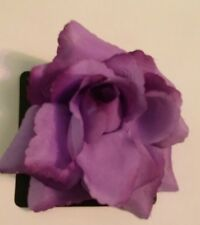 BNWT Tie Rack Frangi Large Purple Layered Flower Hair Bobble/Clothes Pin