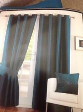 Dunelm Faux Silk Modern Curtains & Blinds