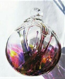 Gazing Ball 3 inch hand blown glass ornament (H)