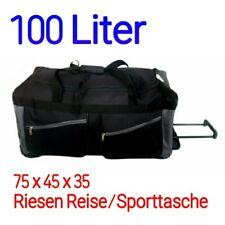 XXL GROßE Reisetasche Sporttasche mit Räder 85x35x35 mit 2 Vordertaschen