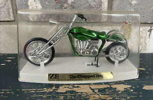 vintage 1971 Zee Toys, THE CHOPPED HOG, green in a plastic case