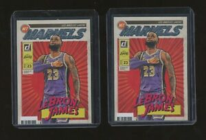Lot of (2) 2019-20 Donruss Net Marvels #19 LeBron James Los Angeles Lakers