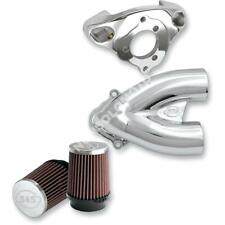 KIT FILTRO ARIA S&S HARLEY DAVIDSON TUNED INDUCTION AIR CLEANERS CHROME FLHRC...