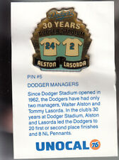 VINTAGE L.A. DODGERS UNOCAL PIN (UNUSED) - DODGER MANAGERS ALSTON/LASORDA