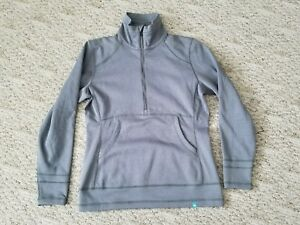 EUC SIMMS Women's FLY FISHING GUIDE Fleece Pullover Color GRAY Size SMALL S