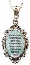 Tree of life Serenity Prayer filigree Oval Cameo Pendant Necklace Alkemie AA NA