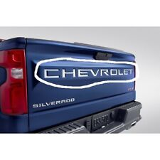 New Silverado Stainless Steel Chevrolet Tailgate Decal~19417967~OEM~2019-2020~