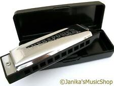 Professional swan blues power harmonica+case harp B key 10 hole 3 octaves