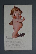 R&L Postcard: Photochrom, Cartoon Chubby Baby, Priceless Old Bean Poem