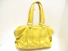Auth JACQUES LE CORRE Yellow Leather Handbag