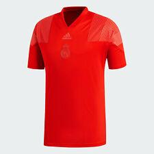 🔥 adidas Men's Soccer Real Madrid Icon Tee T-Shirt Red Medium Fast Shipping