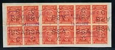 RHODESIA 1920 ADMIRAL 1d x12 USED AT CHIPINGA AS FISCAL.NICE ITEM.  A417