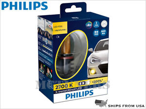 PHILIPS X-treme Ultinon 2700K JDM Golden Yellow H8 H11 LED Fog Lights 12793UNIX2