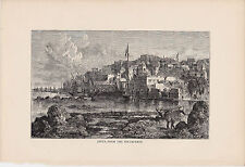 Jaffa from the South-West. Rare Antique Print. 1881.