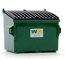 FIRST GEAR 1:34 *GREEN WASTE MANAGEMENT* WASTE BIN DUMPSTER GARBAGE CAN *NIB*