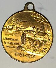 C695     LEBANON,  N.H.   BRASS    TOWN  MEDAL,   200th ANNIVERSARY   1961