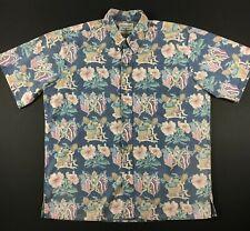 Reyn Spooner Vintage Detrich Varez Button Up American Flags Shirt Size Large